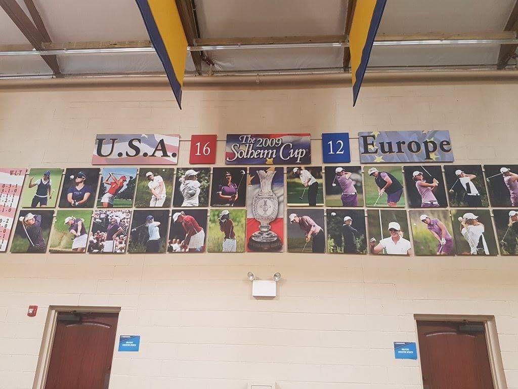 NCAAファイナルでプレーしたシュガーグローブは、2009年ソルハイムカップの会場。2009年かぁ、まだゴルフやってなかったなぁ。
