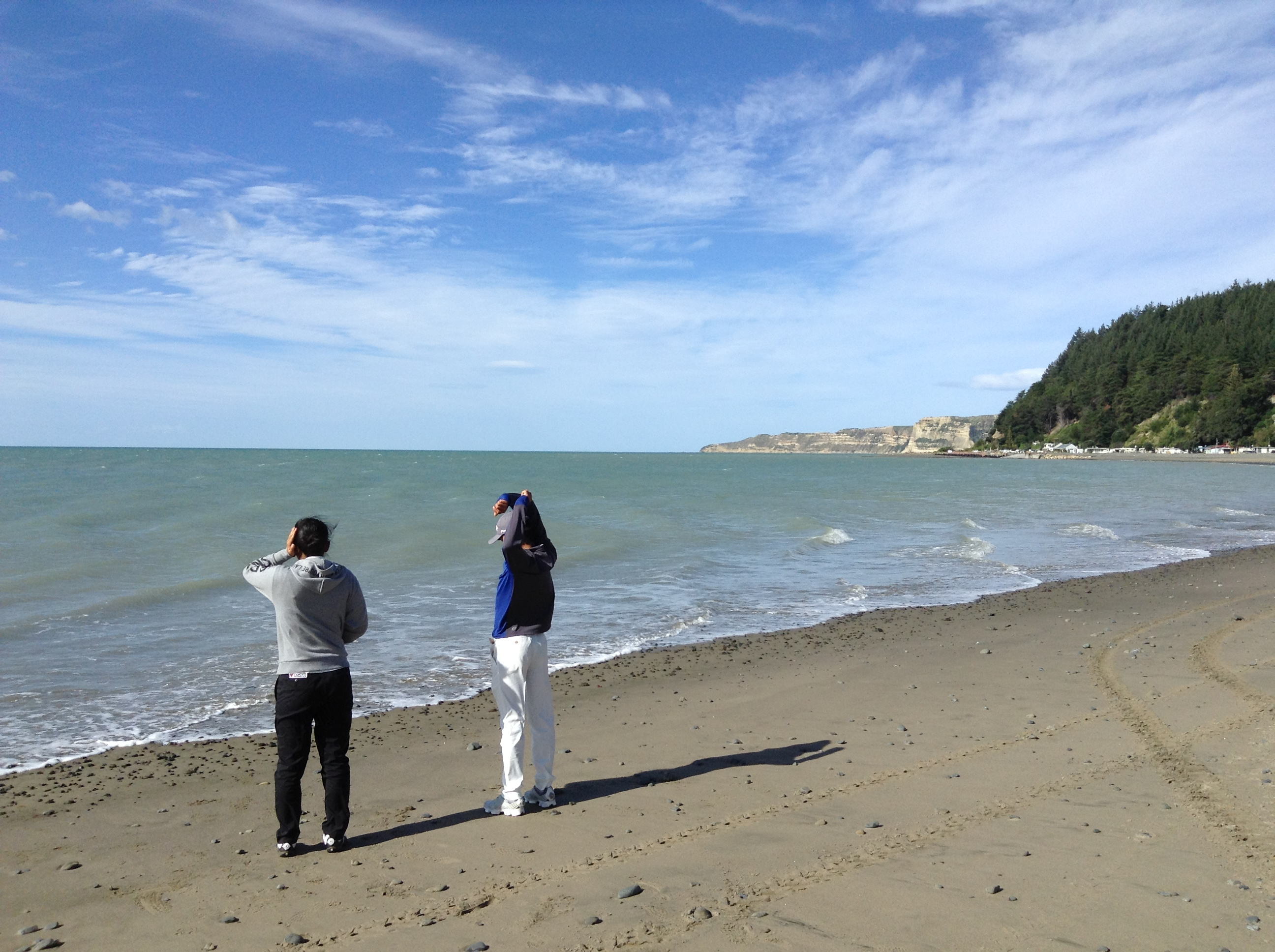 ヘイスティングスといえば、ケイプ キッドナッパーズ。ということで、トーナメントが終わってからビーチを散策