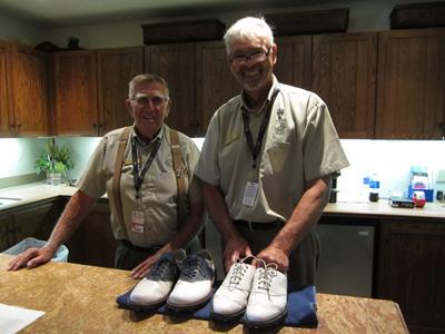 選手用クラブハウスにいた靴磨きのオジさん