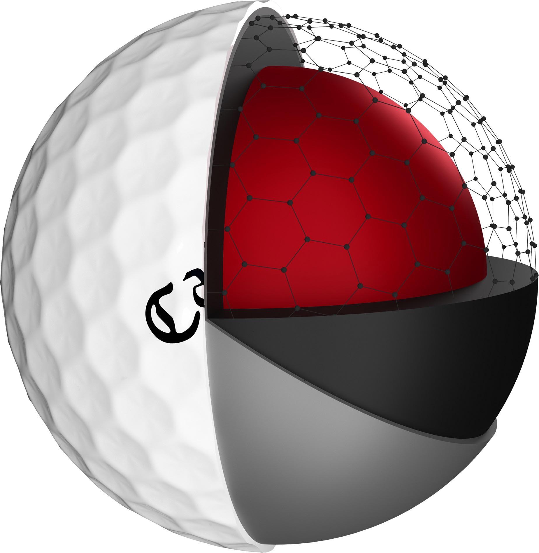 ノーベル賞を受賞した炭素素材「グラフェン」の特性を生かしたキャロウェイゴルフの「クロム ソフト ボール」「クロム ソフト X ボール」(イメージ)