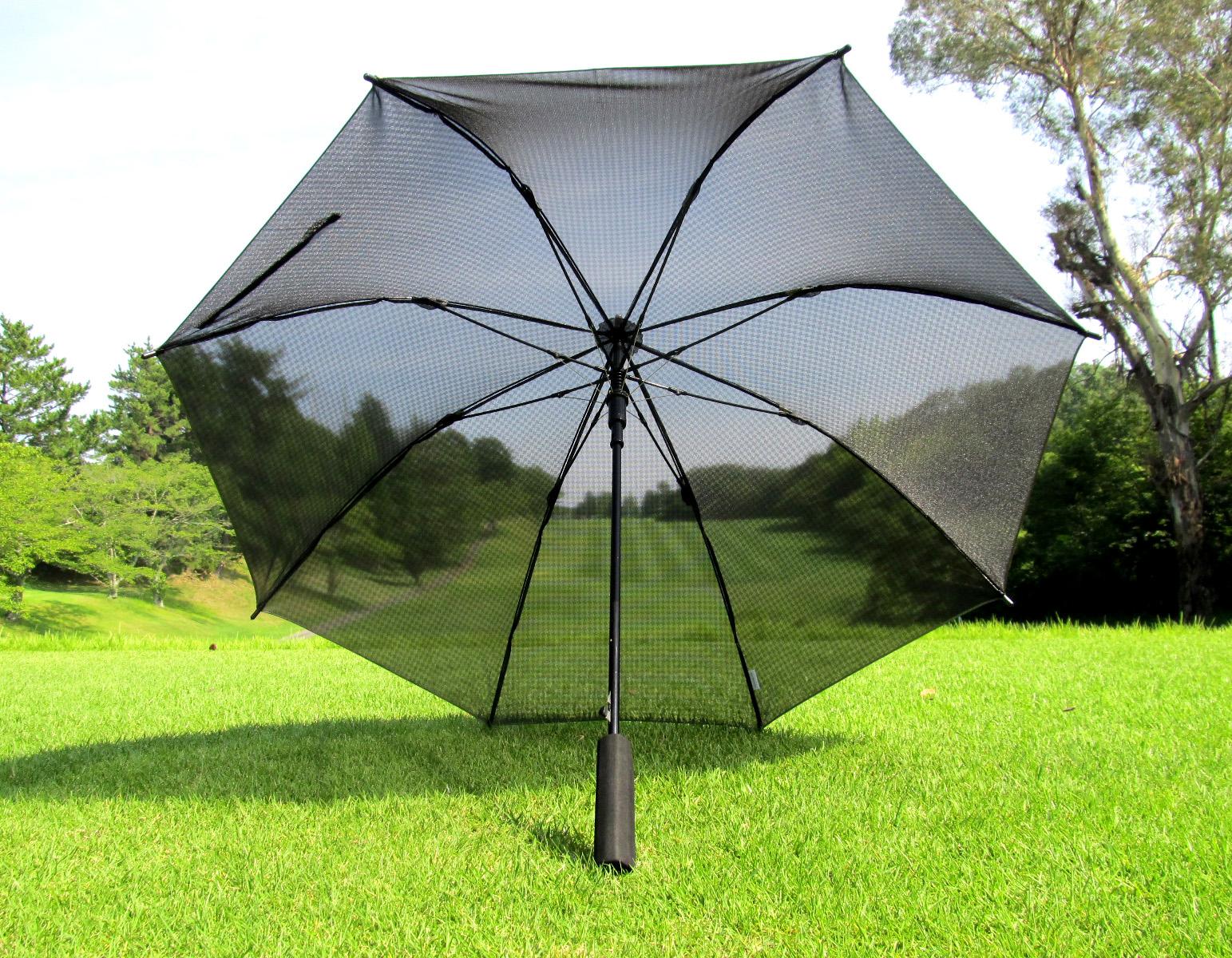 キャスコの「軽量メッシュワンタッチ日傘」はメッシュになっているので通気性抜群