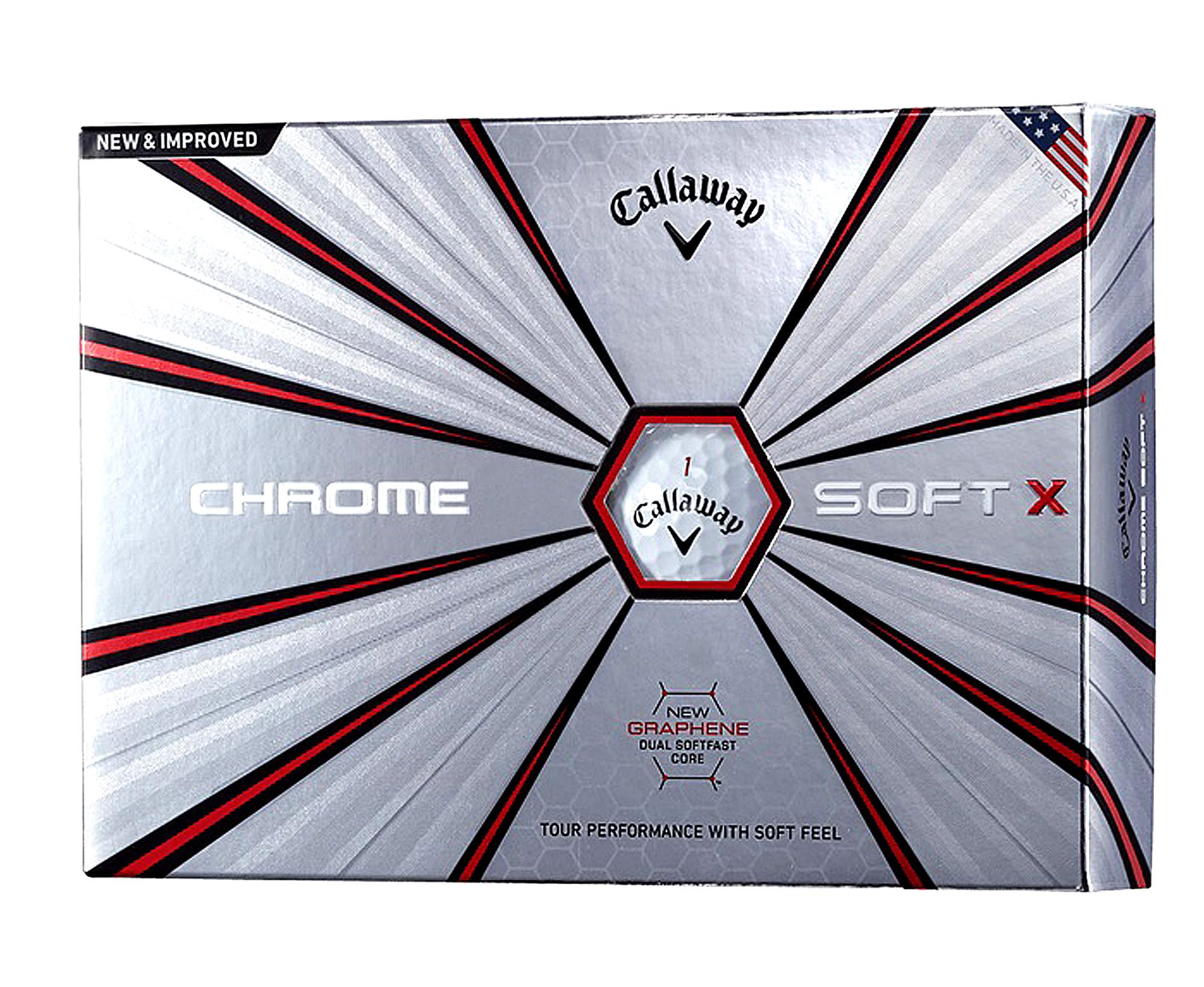 コアに最も強い素材と言われている「グラフェン」を採用したキャロウェイゴルフ『クロムソフトX』は、ヘッドスピードが速い人に最適
