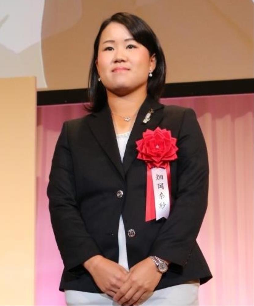 スポーツニッポンフォーラム「FOR ALL 2018」グランプリを受賞した畑岡奈紗