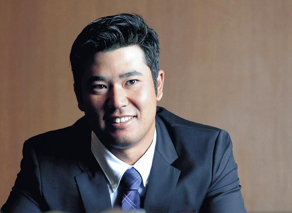 スポーツ報知インタビューに答える松山英樹。東京五輪へ向け、更なる飛躍を誓った(カメラ・竜田 卓)