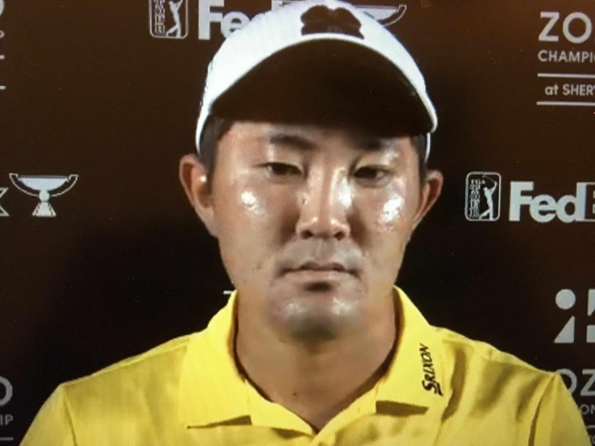米男子プロゴルフツアー、ZOZOチャンピオンシップのオンライン会見に出席した金谷拓実
