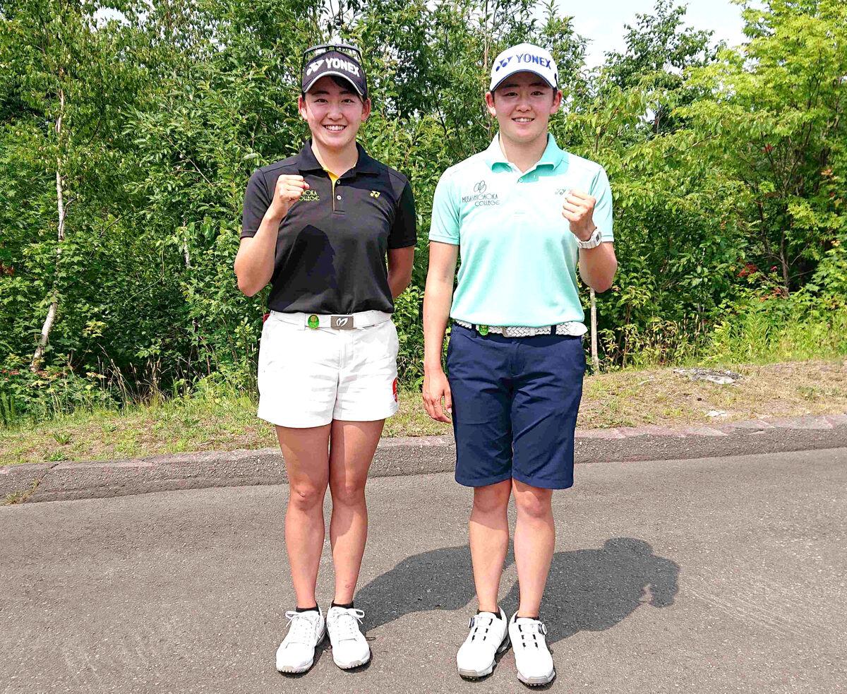 女子プロゴルフでデビュー戦に臨む岩井明愛と千怜の双子姉妹